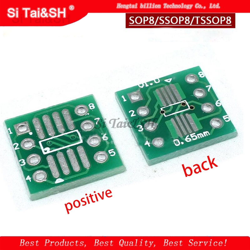 20PCS TSSOP8 SSOP8 SOP8 To DIP8 PCB SOP-8 SOP Transfer Board DIP Pin Board Pitch Adapter
