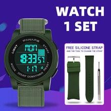 Мужские Цифровые часы panars водонепроницаемые мужские Спортивные
