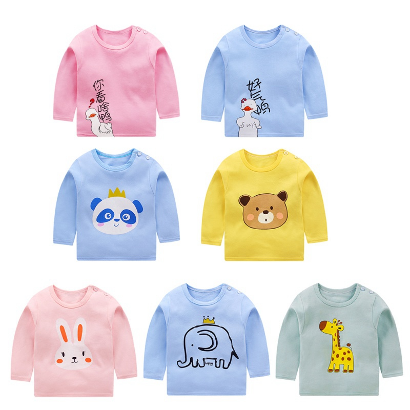 New Pullover Tee Fall Autumn Winter Kids Sweatshirt Tops Long Sleeve T-shirt Boys Girls Child Baby
