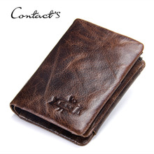 Men Wallet Oil Wax Cowhide Genuine Leather Wallets Coin Purse Clutch Quality Retro Men Wallet Short Small Vintage Wallets стоимость