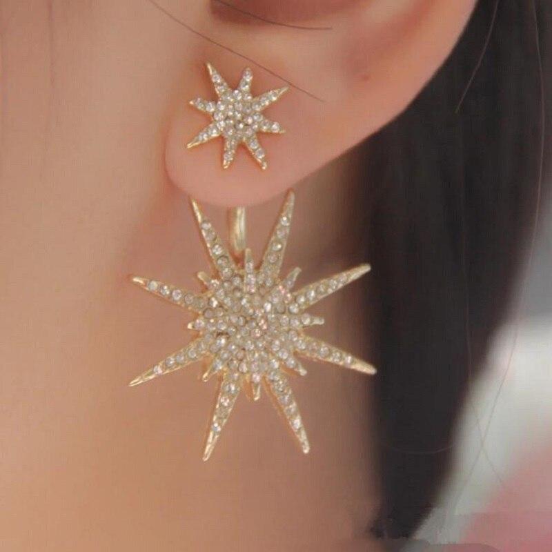 Set Snowflake-Accessories Auger Hanging Real-Earings Wholesale Stars Stud Guardians Brincos
