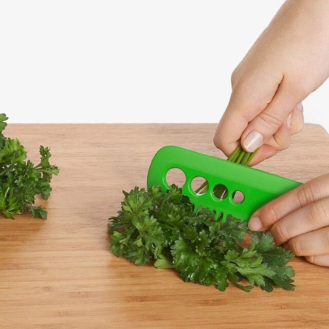 3pcs max Kitchen Gadget Kale,Chard,Collard Greens Herb Stripper Looseleaf Rosemary Thyme Loose Leaf Herb Stripper Vegetable Tool