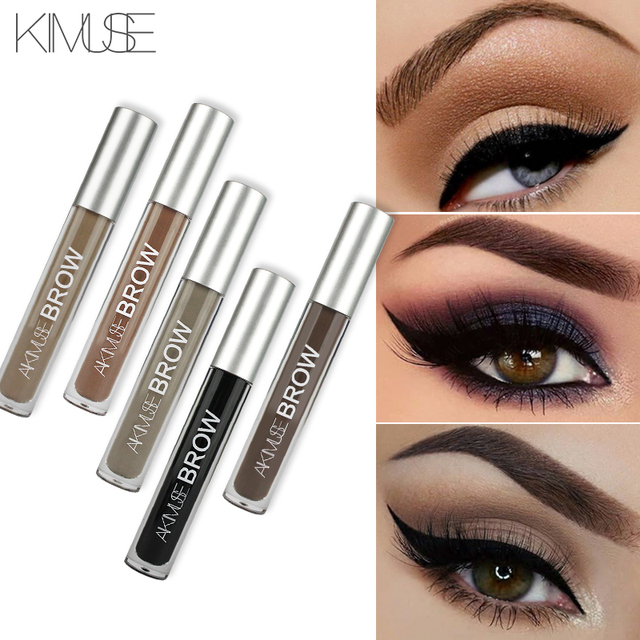 KIMUSE Eye Eyebrow Gel Makeup Tattoo Eyebrows in 2 Mins Black Brown Tint Waterproof Eyebrow Makeup Gel Eyebrow Pencil