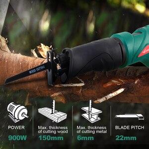 Image 5 - LANNERET 900W Elektrische Säge Säbelsäge Multifunktions Saber Hand Sah mit Rotierenden Griff für Holz und Metall Schneiden