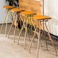 73 см минималистичный барный стул из кованого железа золотистого цвета для чая  кофейни  домашний высокий стул  барные стулья  Современный ба...