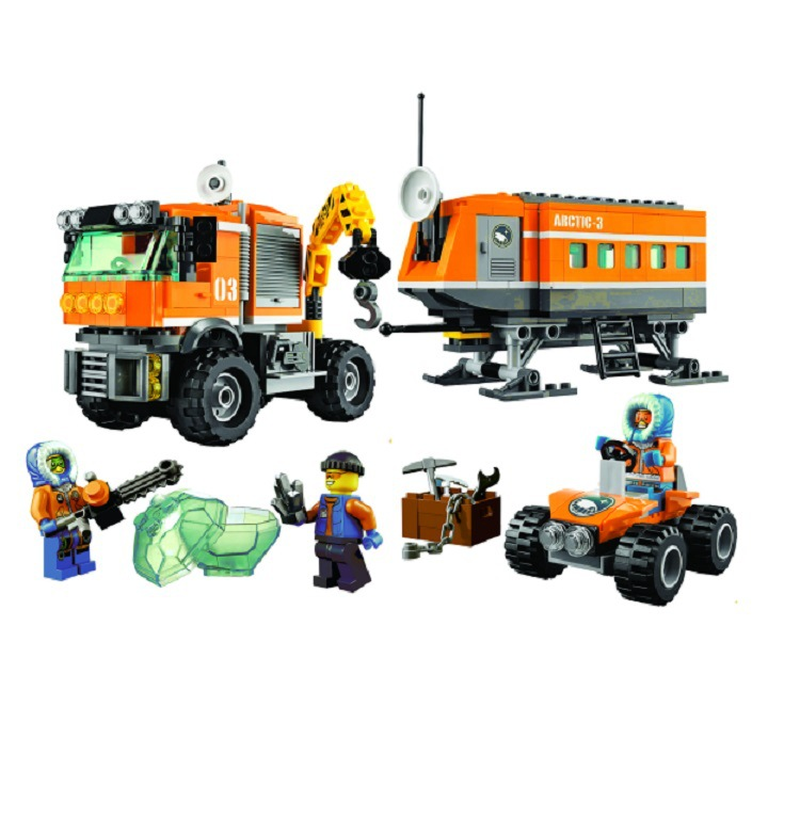 394pcs Polar Adventure Crane Truck Arctic Outpost Model Building Blocks Kit Toys Kids Birthday Christmas Gifts With Legoinglys