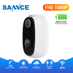 SANNCE FHD 1080P IP Camera Wireless Mini Baby Monitor PIR 6000mA Rechargeable Battery Camera Two-way Audio Support Solar Panel