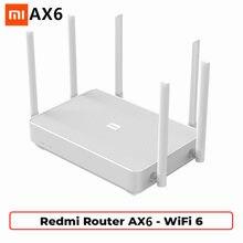 Novo xiaomi redmi roteador ax6 wifi 6 6 6-core 512m memória malha casa iot 6 amplificador de sinal 2.4g 5ghz ambos 2 duplo-banda ofdma