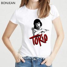 Novelty design 2019 La Casa De Papel Tshirt women harajuku shirt tumblr tops tee femme House of Paper t-shirt streetwear