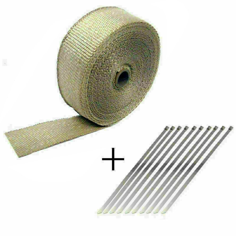 5M Car Motorcycle Insulation Tape Shield Exhaust Pipe Bandage Thermal Wrap Insulation Cotton Tape Increase Mpg