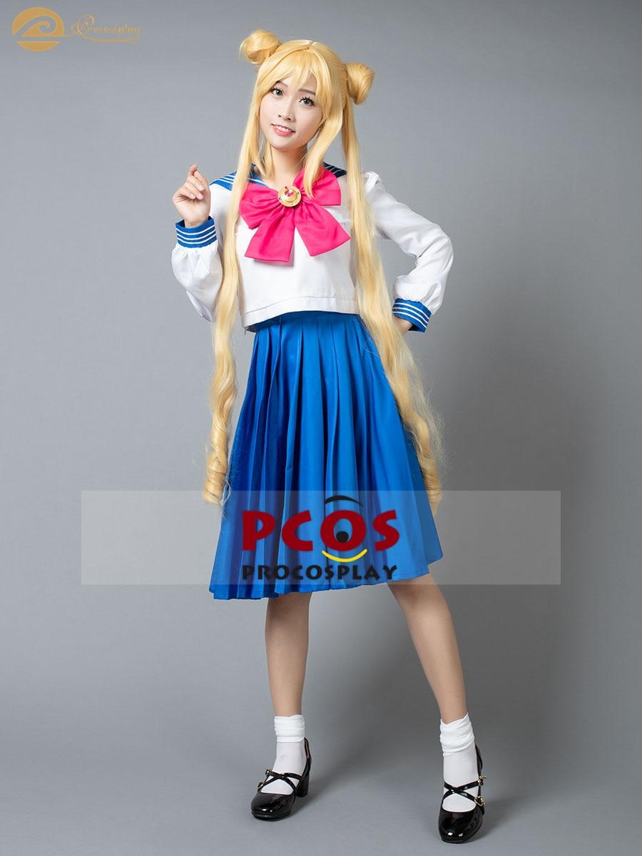 Hot Sailor Moon Chibi Usa Pink Dress Uniforms Cosplay Costume  NN.40