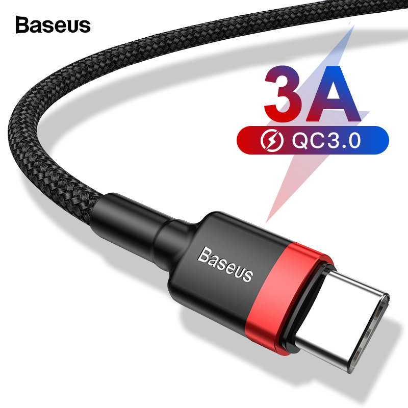 Baseus USB Type C Cable For xiaomi 10 Pro redmi 8 USB C Mobile Phone Cable Fast Charging Type C Cable for USB Type C Devices-in Mobile Phone Cables from Cellphones & Telecommunications on AliExpress
