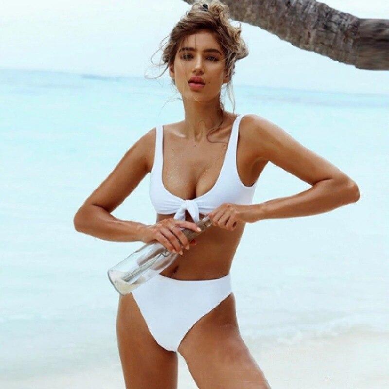 Liegrasse Sexy Bikini Swimwear Women Set High Waist Solid Push up Woman Swimsuit Women Tankni Swimsuits Bikini Mujer Plus Size