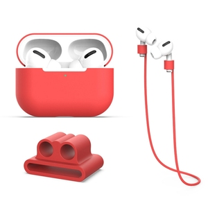 3 uds./traje estuche protector para auriculares Bluetooth inalámbrico caja de carga de silicona funda protectora para Apple Airpods Pro