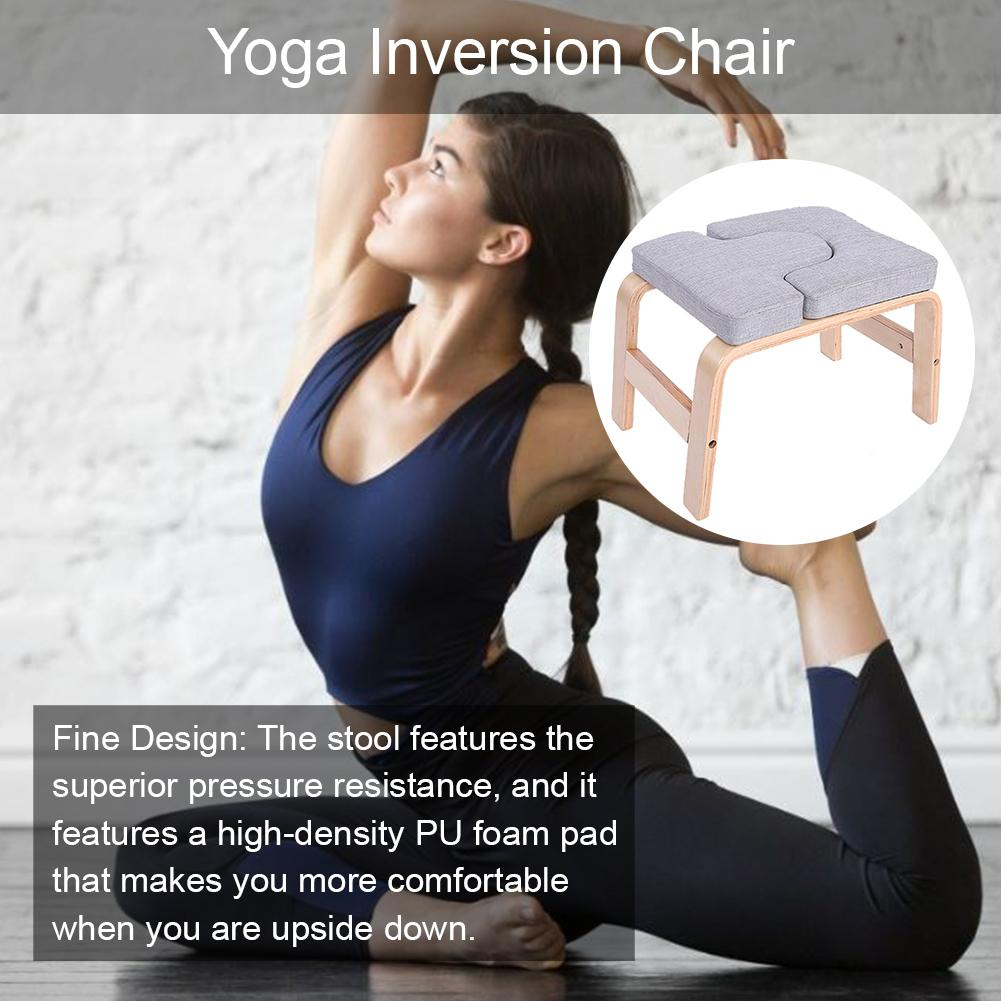Inverted Yoga Inversion Chair Exercise Fitness Headstand Stool PU Foam Pads Gym