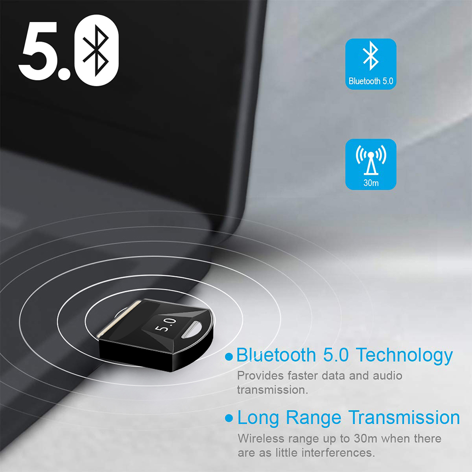 USB Bluetooth 5.0 Bluetooth Adapter Receiver 5.0 Bluetooth Dongle 5.0 4.0 Adapter for PC Laptop 5.0 BT Transmitter 3