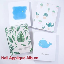 100 Slots 3D Nail Sticker Water Decal Collecting Albums Storage Holder Nail Art Display Showing Book Container Tools