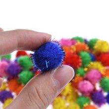100 шт Красочные Мини Блестящие шарики из мишуры маленький Помпон