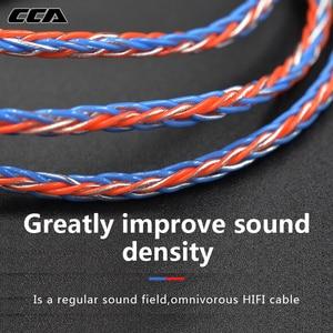 Image 4 - CCA C2 Orange bleu fil argent câble 8 noyau amélioré câble plaqué écouteurs mise à niveau pour ZAX C10 CA4 AS16 AS10 zsn pro ZS10 Pro