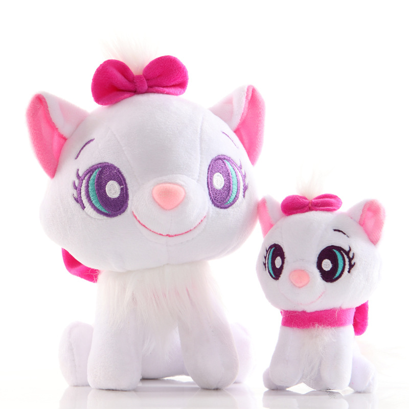 12/20cm Cartoon Anime Aristocats Cat Stuffed Plush Toys Soft Cute Animals Marie Cat Plush Doll Toys Boys Girls Gifts for Kids