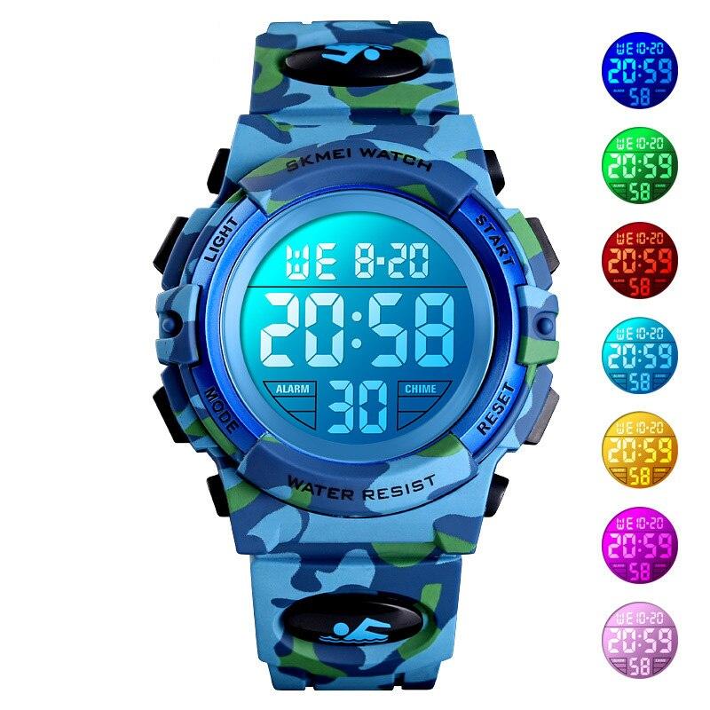 TurnFinger Дети% 27s Цифровые Часы Цветной LED Открытый Спорт Хронограф Водонепроницаемый Тренд Мода Роскошь Изысканный Горячий Распродажа