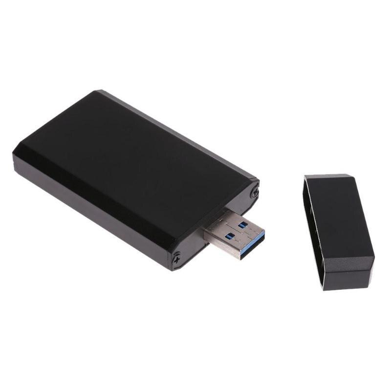 Mini Portable PCI-e MSATA SSD To USB 3.0 Converter Adapter Enclosure Case