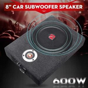 8 дюймов 600 Вт автомобильный сабвуфер динамик автомобильный активный тонкий под сиденьем динамик стерео бас-гудок аудио усилитель мощности ...