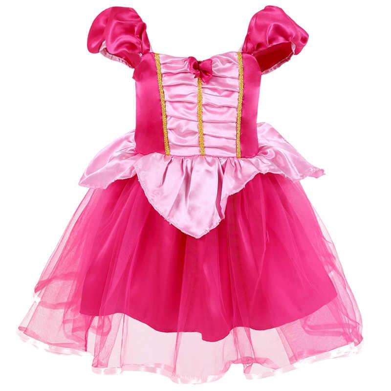 Платье для маленьких девочек от 0 до 5 лет Рождественский костюм Анны и Эльзы для косплея летние платья платье принцессы Эльзы для девочек на день рождения, праздничное платье для девочек
