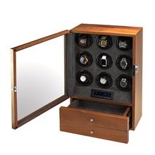 9 slotów wysokiej klasy zegarek silnika Shaker pokrętło zegarka pojemnik do przechowywania wyświetlacz poduszka na drewniany zegarek pokrętło zegarka box 200907-24 tanie tanio CN (pochodzenie) 0inch Nowy bez tagów