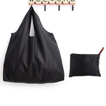 Pure Colour Eco Tote Shopping Bag Print Women Foldable Recycle Grocery Storage Bag Fashion Female Supermarket Shopper Bag calico print tote bag