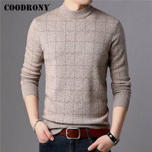 COODRONY Brand Sweater Men 100% Merino Wool Pullover Men Thick Warm Winter Sweaters Soft Cashmere Casual Plaid Pull Homme 93026 coodrony brand sweater men 100