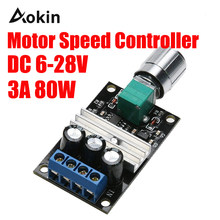 DC 6-28 V 12 V 24 V 3A PWM Control Switch Driver of Engine Speed Regulator Variable Fan Adjustment for DC Motor Governor Tools(China)