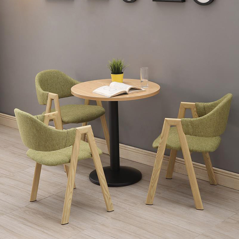 Reception Table and Chair Combination Tea Shop Cafe Meeting Parlor Leisure Negotiation Nordic Small Round Table Chair