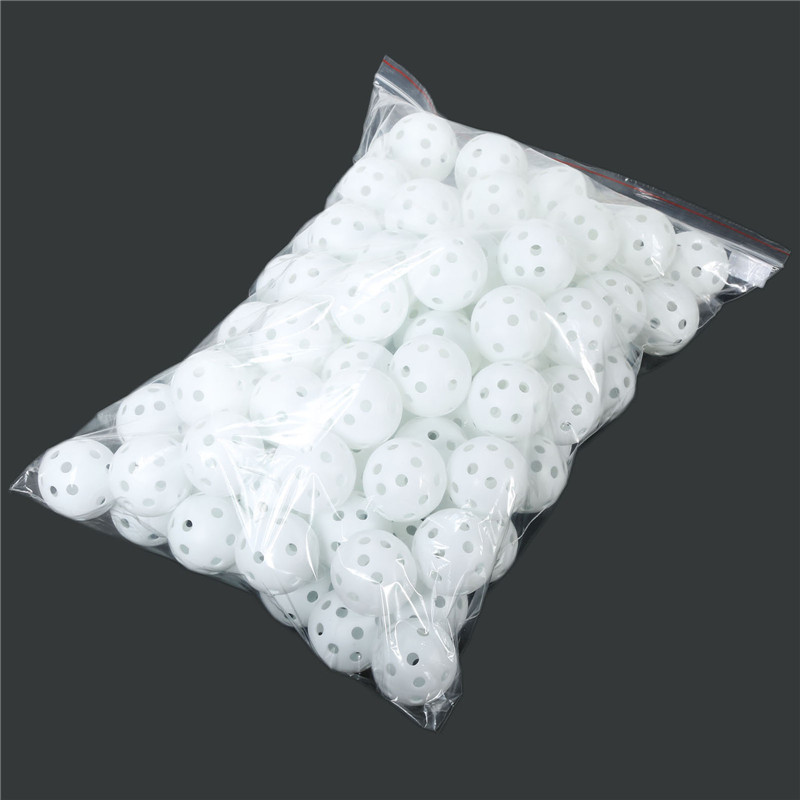 100pcs Plastic Hole Airflow Hollow Golf Balls 41mm Golfer Golf Practice Balls Training Golf Accessories High Quality Wholesale
