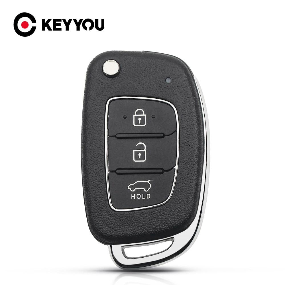 Keyyou For Hyundai Solaris Ix35 Ix45 Elantra Santa Fe New Verna 3 4 Button Car Key Shell Hy20 Remote Key Fob Right Side Blade Best Discount 8397 Cicig