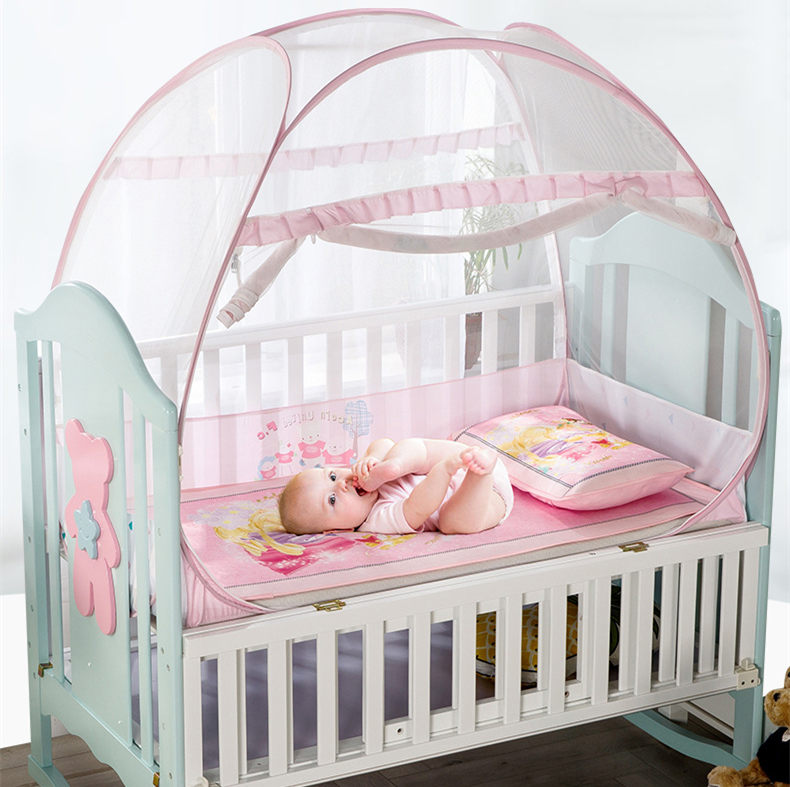 Baby Crib Bedding Mosquito Net Folding Crib Netting Tent Cradle Bed Toddler Bed Canopy Bed Tent For Baby Room Decor