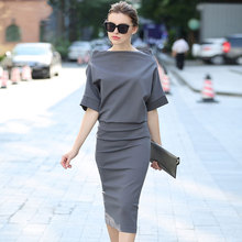 Elegant Party Dresses women  dresses woman party night Autumn Bodycon Office Dress Ladies 2018 Batwing Sleeve Woman