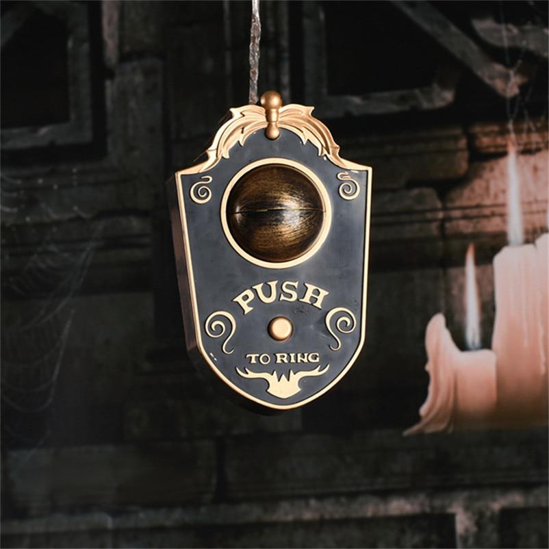 Novelty Doorbell Halloween Door Decorations Horror Props Creepy Eyes Doorbell Haunted House Escape Home Bar Scary
