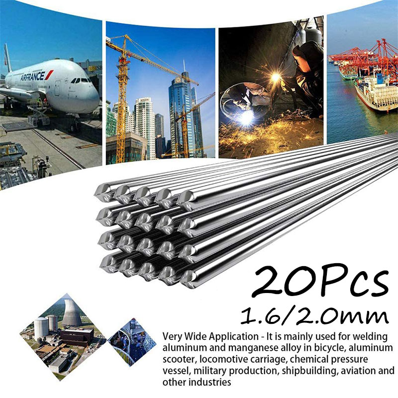 10/20 шт., 50 см, универсальные легкие алюминиевые сварочные электроды, низкая температура 1,6 мм, 2 мм, не нужно