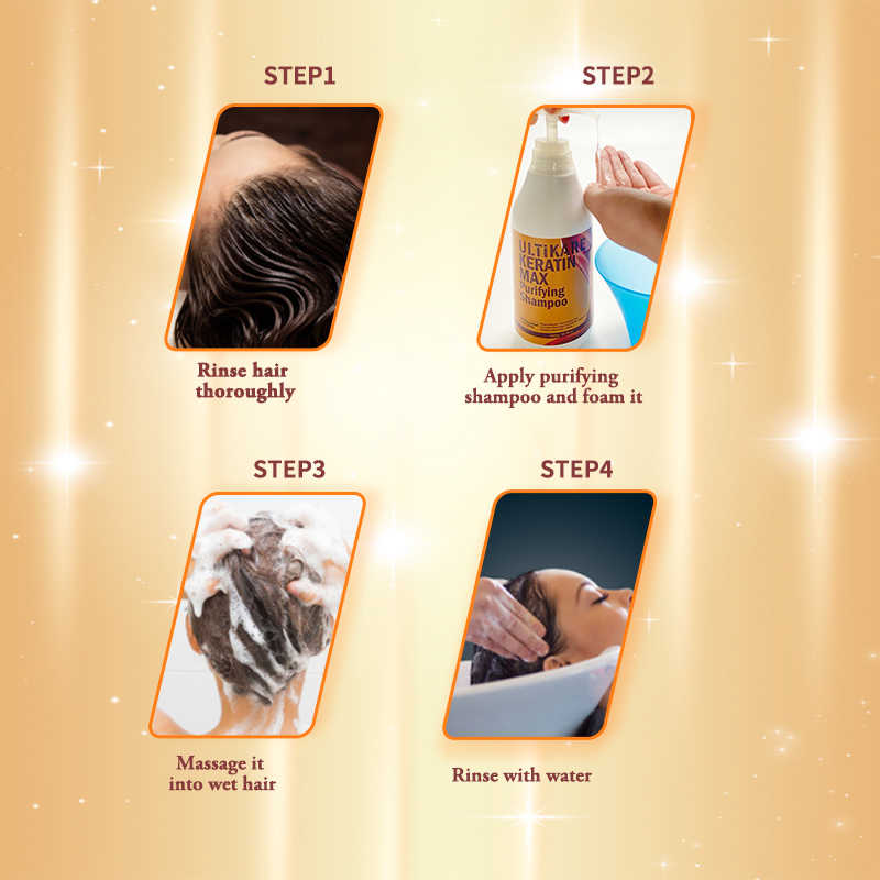 Brazylijski zabieg keratynowy o pojemności przenośnej 300ML szampon oczyszczający głębokie oczyszczanie produkt do włosów