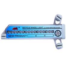 купить Bicycle Decorative Light 32 Pattern LED Colorful Bicycle Wheel Tire Spoke Signal Light For Bike Safety недорого