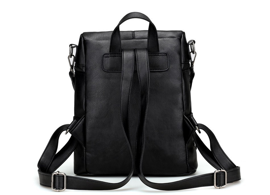H89ebbc030c4444ef8a6827bd93063812C Herald Fashion Women's PU Leather Backpack School Bags For Teenage Girls Large Capacity Backpack Laptop Bag Drop Shipping