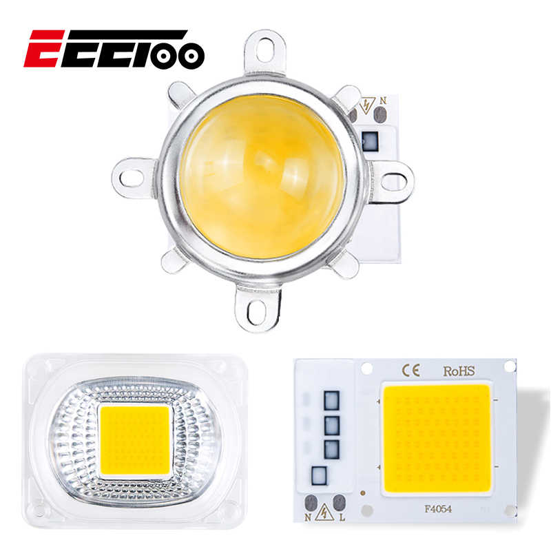 30W White LED Chip 220V for Floodlight LED Light Bulb No Need Driver COB Chip Matrix for Spotlight with Lens Reflector Lampshade