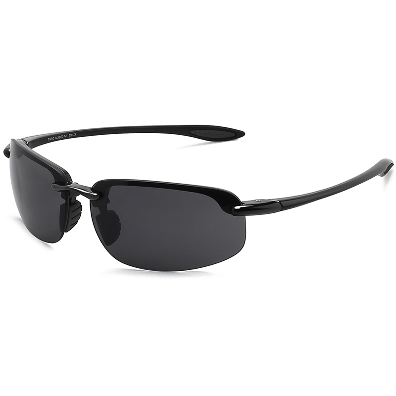 MAXJULI Sunglasses Men Classic Fashion Rimless Driving Hiking Women's Sports TR90 Material UV400 Male Sun Eyewear MJ8001
