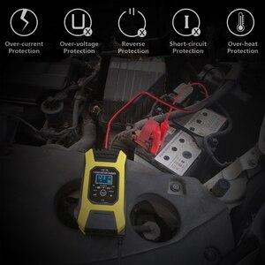 Image 4 - FOXSUR شاحن بطارية السيارة والدراجات النارية ، جهاز النبض ، 7 مراحل ، 12 فولت ، 7A ، لـ EFB GEL WET AGM