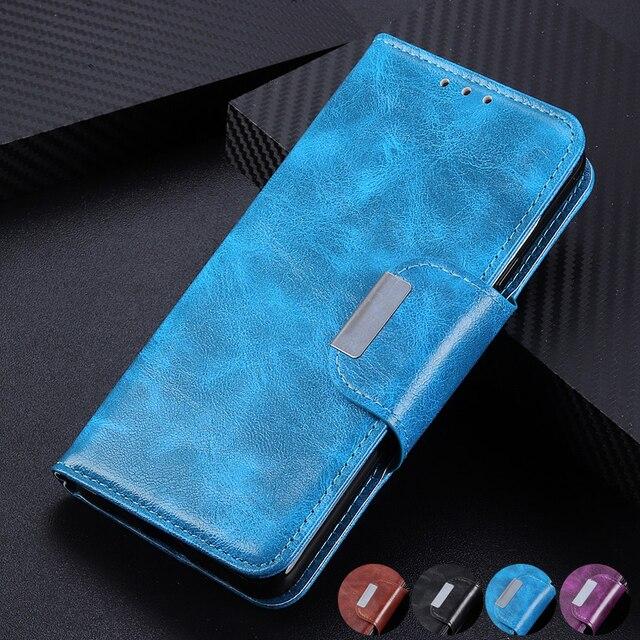 6 כרטיס חריצי ארנק Flip עור מקרה עבור Wiko סאני 4 בתוספת Y80 Y70 760 ג רי 4 Stand סגירה מגנטית מזהה כרטיסי אשראי כיס