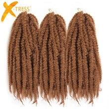 Moyen brun rouge rose couleur 18 pouces Crochet tresses Afro crépus tressage cheveux Marley tresse femmes synthétique Extensions de cheveux X-TRESS