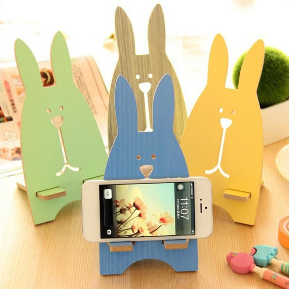 Portable Wood Mobile Phone Cellphone Holder Desktop Mount Stand Bracket Rack Durable Mobile Phone Holders Stands