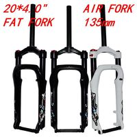 20 Inch Snowmobile ATV Bike Shock Absorber Gas Fork Front Magnesium Alloy Wide Tire 4.0 Off road Bicycle 135MM Air Fork