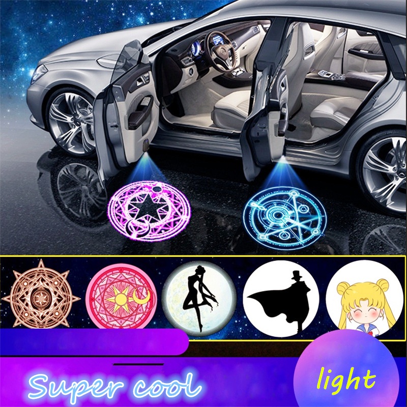 2020 Universal Wireless LED Shadow Projector Courtesy Step Lights Welcome Lights Cars Door Shadow Light Laser Emblem Lamps Kit